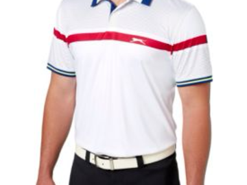 Selling: Slazenger Men's Frequency Stripe Cuff Golf Polo