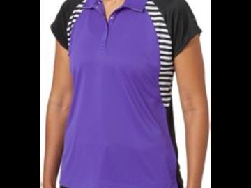 Selling: Slazenger Women's City Lights Collection Raglan Stripe Polo