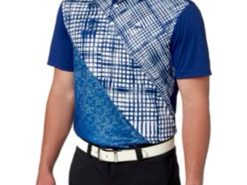 Selling: Slazenger Men's Frequency Ombre Check Golf Polo