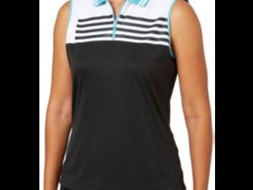 Selling: Slazenger Women's City Lights Stripe Sleeveless Golf Polo