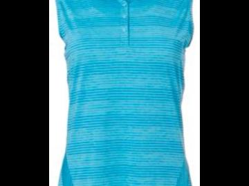 Selling: Slazenger Women's Luminescent Space Dye Sleeveless Golf Polo