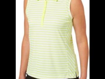 Selling: Slazenger Women's Structure Stripe Sleeveless Golf Polo