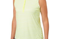 Selling: Slazenger Women's Structure Stripe Sleeveless Golf Polo