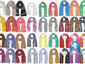 Sell: 120pc Mixed Light Viscose Scarves