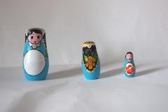 Vente au détail: Trio de matriochka en bois - Moana la vahiné