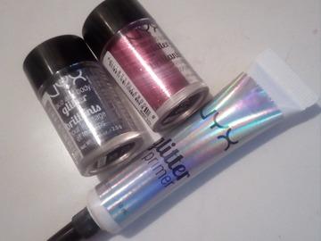 Venta: REBAJADO!!! Glitter glue + 2 glitters de Nyx