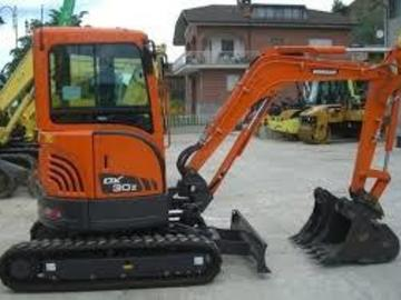 Daily Equipment Rental: Doosan DX30Z 3T Mini Excavator