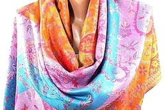 Bulk Lot: 12 Pashmina Type Cotton Scarf, Shawl rainbow - PRICE DROP !!