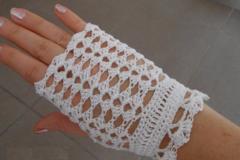 Vente au détail: mitaines crochet dentelle/Mitaines crochet blanche