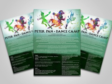 Selling: 10 class Dance Camp package + Peter Pan Rehearsals & Show