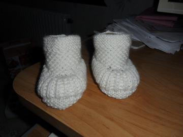 Vente au détail: Chaussons bébé 0/3 mois blanc