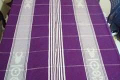 Vente au détail: Nappe de table tissée violette