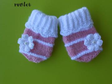 Vente au détail: Moufles blanche pour bébé