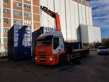 Daily Equipment Rental: Hiab crane haulage