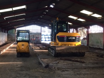 Daily Equipment Rental: Jcb mini digger full cab