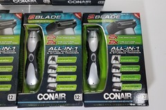 Bulk Lot: 10 Conair All-In-1 Grooming System 2 Blade For Men Cordless