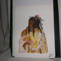 Vente au détail: aquarelle tete indien
