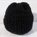 Vente au détail: bonnet laine acrylique noir, grosse épaisseur
