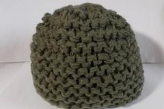 Vente au détail: bonnet laine acrylique kaki, grosse épaisseur