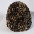 Vente au détail: bonnet laine acrylique ton marron, grosse épaisseur