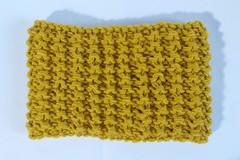 Vente au détail: Bandeau jaune-ocre en laine acrylique