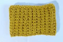 Vente au détail: Bandeau jaune-ocre en laine acrylique 2
