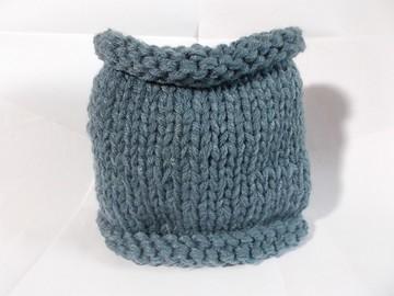 Vente au détail: snood en laine acrylique bleu jean