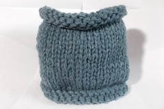 Sale retail: snood en laine acrylique bleu jean