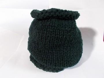 Vente au détail: snood en laine acrylique vert sapin