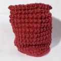 Sale retail: snood en laine acrylique rouge bordeau
