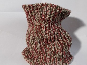 Vente au détail: snood en laine acrylique rouge, marron, beige