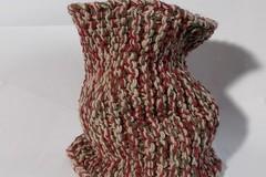 Sale retail: snood en laine acrylique rouge, marron, beige