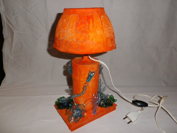 Vente au détail: lampe orange