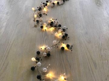 Ilmoitus: Helminauha-pöytäkoriste (3 kpl) + led-valot