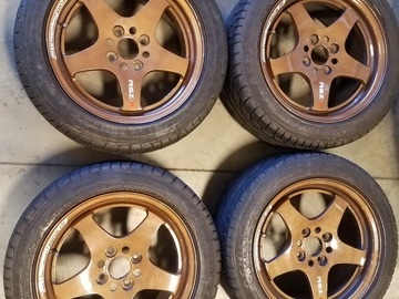 Selling: 15x7 | 4x100 | WORK RSZ R wheels for sale