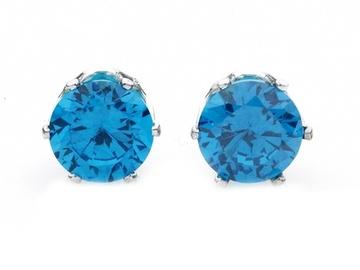 Buy Now: 100pr-2-CTW London Blue stud earrings  w/ Swarovski Elements