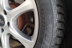 "Selling: 17""   5x114.3   ASA Wheels   Dunlop Winter tires 17/50/225"
