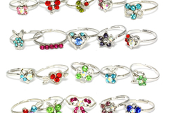 Sell: (500) Rhodium Plated Rhinestone Women Rings Jewelries