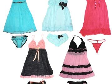 Compra Ahora: 36 Sets! Sexy Women Sleepwear Babydoll Dress Underwear Set