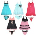 Buy Now: 36 Sets! Sexy Women Sleepwear Babydoll Dress Underwear Set