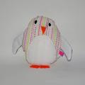 Vente au détail: Clopin le Pingouin - blanc/violet aux rayures colorées