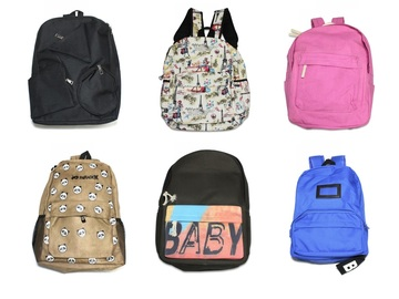 Liquidation Lot: (30) Unisex Teen Casual Canvas Backpacks with Assorted Style
