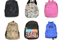 Liquidation/Wholesale Lot: (30) Unisex Teen Casual Canvas Backpacks with Assorted Style