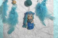 Sale retail: Petit Attrape-rêves féerique figurine zodiaque poisson fille