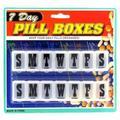 Bulk Lot: 96 WHOLESALE PILL BOXES, 2PACK-7DAY