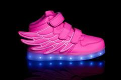 Sell: Lot of 12 kids feather led shoes pink, blue and white availa
