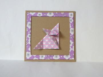 Vente au détail: Cadre origami - renard rose