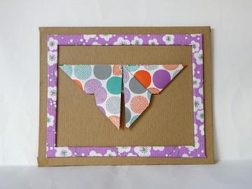 Vente au détail: Cadre origami - papillon