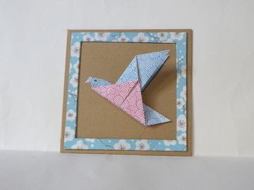 Vente au détail: Cadre origami - colombe