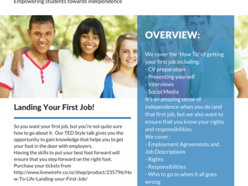 Services: HOW TO LIFE - LANDING YOUR FIRST JOB